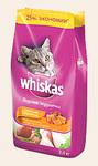 Whiskas 5 кг./Вискас сухой корм для кошек Вкусные подушечки с паштетом Аппетитное ассорти с курицей, уткой и индейкой