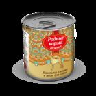 Родные корма Нежные 240 гр./Консервы для собак Калтыки и языки в желе