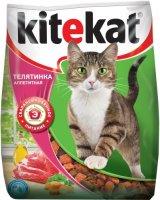 Kitekat 350 гр./Китекет сухой корм для кошек с телятиной