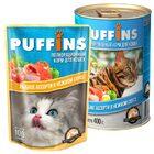 Puffins 400 гр./Пуффинс консервы для кошек Рыбное ассорти в нежном соусе