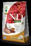 Farmina N&D Dog Quinoa Skin&coat Quail 800 гр./Фармина сухой корм для собак Перепел, киноа, кокос и куркума. Здоровье кожи и шерсти