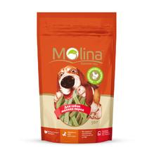 Molina 50 гр./Молина Лакомство для собак мелких пород Куриные полоски со шпинатом