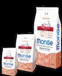 Monge Mini Adult Salmone 800 гр./Монж сухой Корм с лососем и рисом для взрослых собак мелких пород