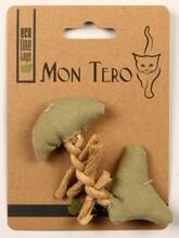 МОН ТЕРО ЭКО игрушка для кошек рыбья кость с кошечей мятой зеленая