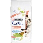 Cat Chow Sensitive 15 кг./Кет Чау сухой корм для кошек с чувствительным пищеварением и чувствительной кожей с лососем и рисом