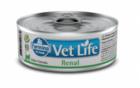 Farmina Vet Life Renal 85 гр./Фармина полнорационный диетический влажный корм для кошек для лечения и профилактики рецидивов струвитного уролитиаза.