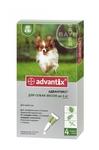 Advantix//капли для собак до 4 кг от блох и клещей 4*0,4 мл