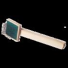 Зооник/Пуходерка деревянная плоская малая (эконом) 07221