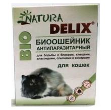 Natura Delix BIO//Деликс Био биоошейник антипаразитарный для кошек 35 см