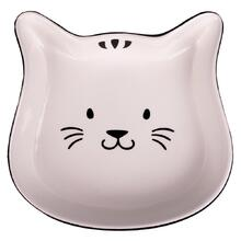 КерамикАрт миска керамическое Мордочка кошки 200 мл, черный с белым