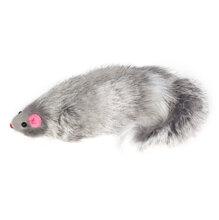 TRIOL Игрушка для кошек Мышь с погремушкой серая 14см/22161009/