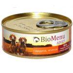 BioMenu ADULT100 гр./БиоМеню консервы для собак с Говядиной и ягненком 100 г