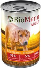 BioMenu ADULT410 гр./БиоМеню консервы для собак с Говядиной и ягненком