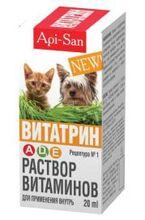 Витатрин//лечение гиповитаминозов A, D3, Е для кошек и собак 20 мл
