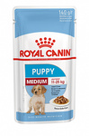 Royal Canin MEDIUM PUPPY 140 гр./Роял канин Консервы  для щенков средних пород в соусе
