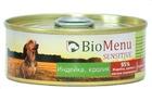 BioMenu SENSITIVE 100 гр./БиоМеню консервы для собак с чувствительным пищеварением Индейка и Кролик