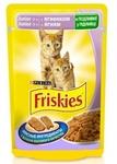 Friskies 100 гр./Фрискис консервы в фольге для котят с ягненком в подливе