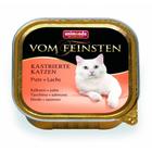 Animonda Vom Feinsten for castrated cats 100 гр./Анимонда консервы для кастрированных кошек с индейкой и лососем