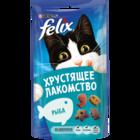 Felix 60 гр./Феликс Хрустящее Лакомство  для взрослых кошек с рыбой