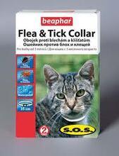 Beaphar SOS//Беафар ошейник от блох и клещей для кошек 35 см