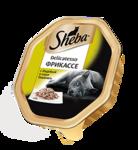 Sheba Delicatesso 85 гр./Шеба Деликат консервы для кошек с индейкой в соусе Бешамель