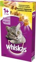 Whiskas 350 гр./Вискас сухой корм для кошек Вкусные подушечки с паштетом Аппетитное ассорти с курицей, уткой и индейкой