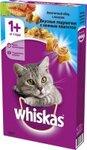 Whiskas 400 гр./Вискас сухой корм для кошек Вкусные подушечки с паштетом Морское ассорти с лососем, тунцом и креветками