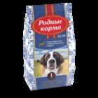 Родные Корма 16,38 кг. сухой корм для взрослых собак крупных пород 22/10 1Пуд