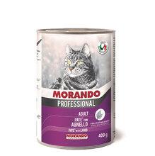 Morando Professional Консервированный корм для кошек паштет с ягненком 400гр.