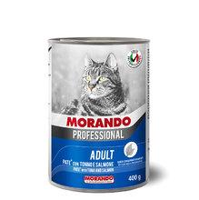 Morando Professional Консервированный корм для кошек паштет с тунцом и лососем 400гр.