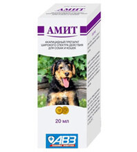 Амит/Акарицидный препарат для ушей собак и кошек 20 мл