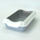 HOMECAT туалет для кошек Бюджет 37х27х115 см  с бортиком серый (70033)