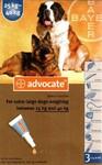 Advocate//капли для собак от 25 до 40 кг от блох и клещей 3*4 мл