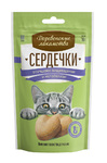 Деревенские лакомства д/кошек Сердечки улучшают пищеварение и метаболизм, 30г