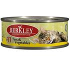 Berkley 100 гр./Беркли Консервы для кошек  тунец, овощи №11