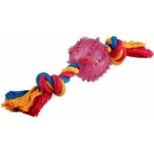 HOMEPET Игрушка для собак мяч на канате Ф 7 см. 25 см./72514/