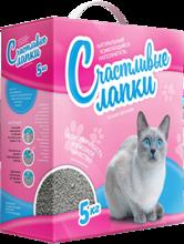 Счастливые лапки 5 кг./Наполнитель для кошек комкующийся