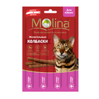 Molina 20 гр./4*5 гр./Молина Жевательные колбаски для кошек Курица и утка