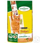 Friskies Indoor 1,5 кг./Фрискис сухой корм для домашних кошек с курицей, садовой травой