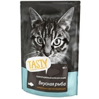 TASTY 85 гр./Консервы для кошек с рыбой в желе пауч