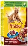 Friskies Adult 400 гр./Фрискис сухой корм для взрослых кошек с мясом, курицей и овощами