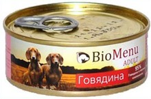 BioMenu ADULT 100 гр./БиоМеню консервы для собак с Говядиной
