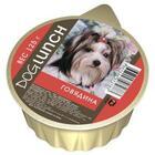 Dog Lunch 125 гр./Дог Ланч консервы для собак крем-суфле Говядина  ламистер