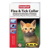 Beaphar SOS 35 см./Беафар ошейник от блох и клещей для котят