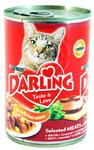 Darling 800 г//Дарлинг консервы для кошек с мясом и кукурузой