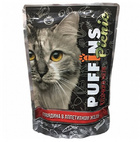 Puffins 85 гр./Пуффинс консервы для кошек Говядина кусочки в желе