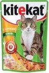 Kitekat 85 гр./Китекет консервы в фольге для кошек с курицей в желе