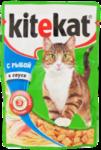 Kitekat 85 гр./Китекет консервы в фольге для кошек с рыбой в соусе