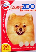 Доктор ЗОО//витамины для собак со вкусом ветчины 90 таб.