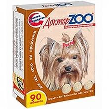 Доктор ЗОО//витамины для собак со вкусом копченостей 90 таб.